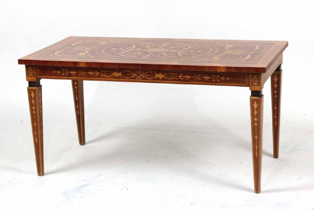 Neoclassical Style Inlaid Low Table