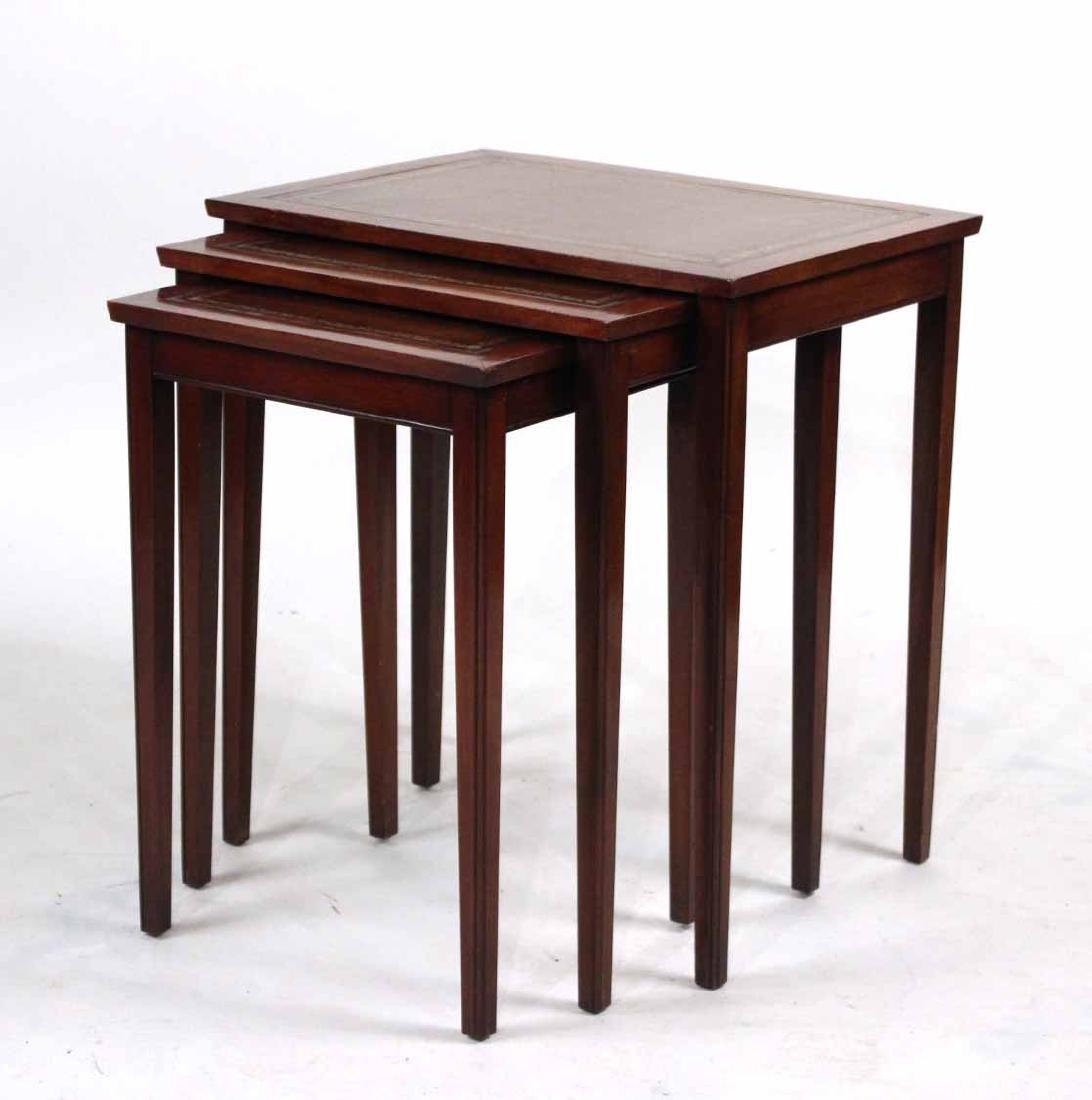George III Style Mahogany Nesting Tables