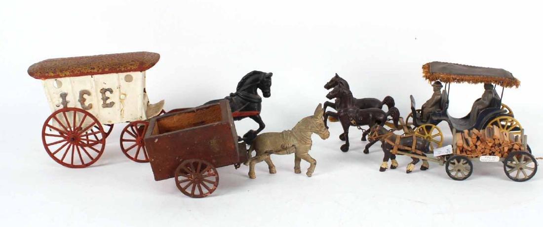 Hubley Cast Iron Ice Wagon,