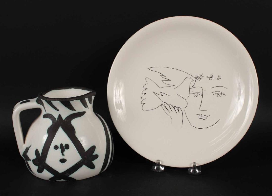 Pablo Picasso Ceramic Head Pitcher