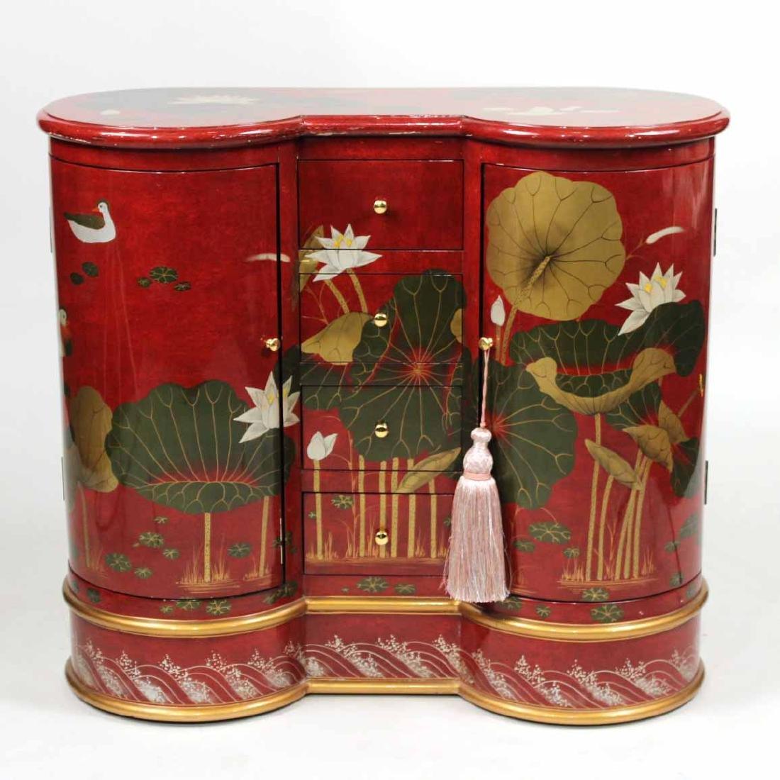 Japanese Red-Lacquer Chest