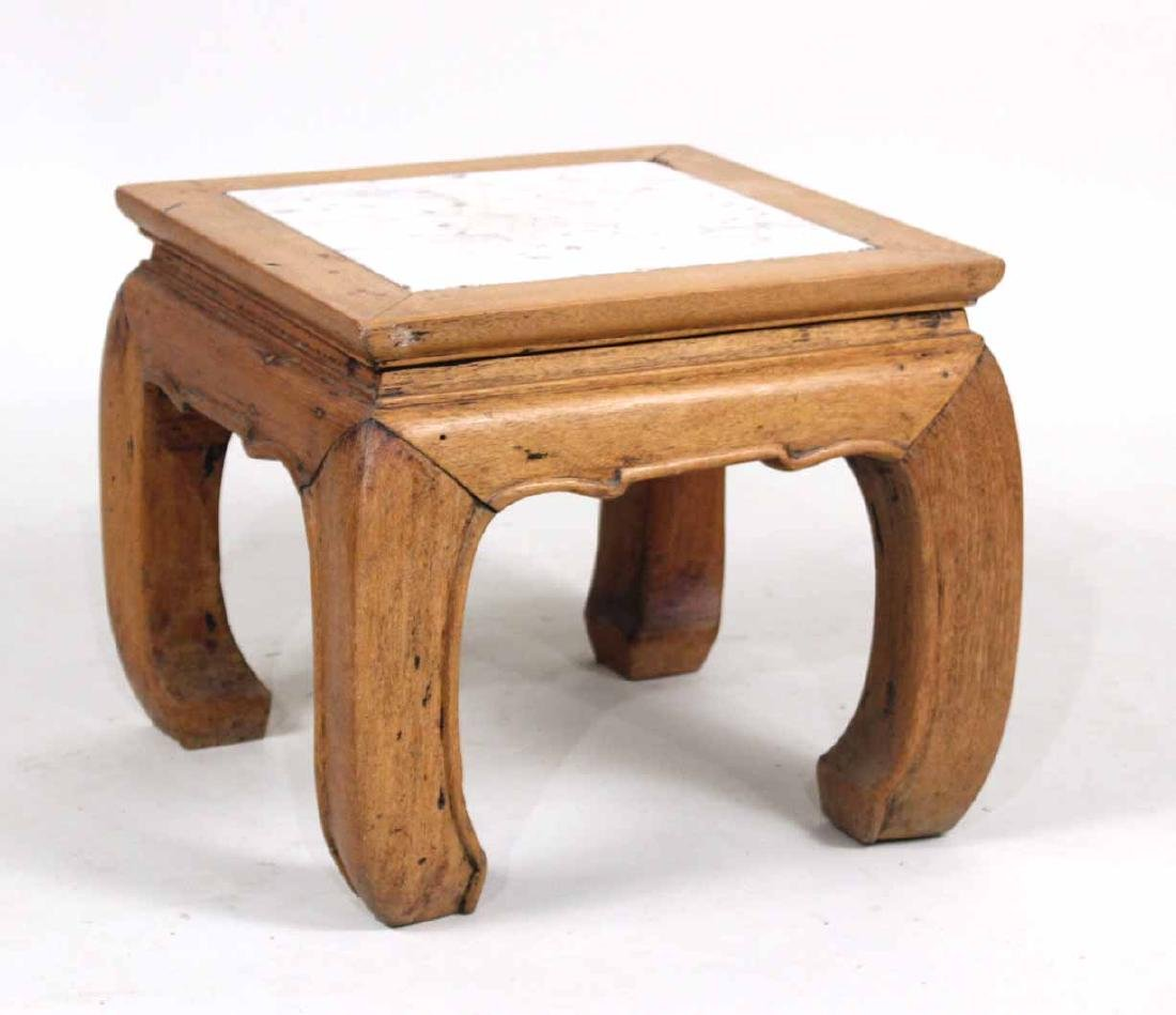 Chinese Style Marble-Inset Low Table