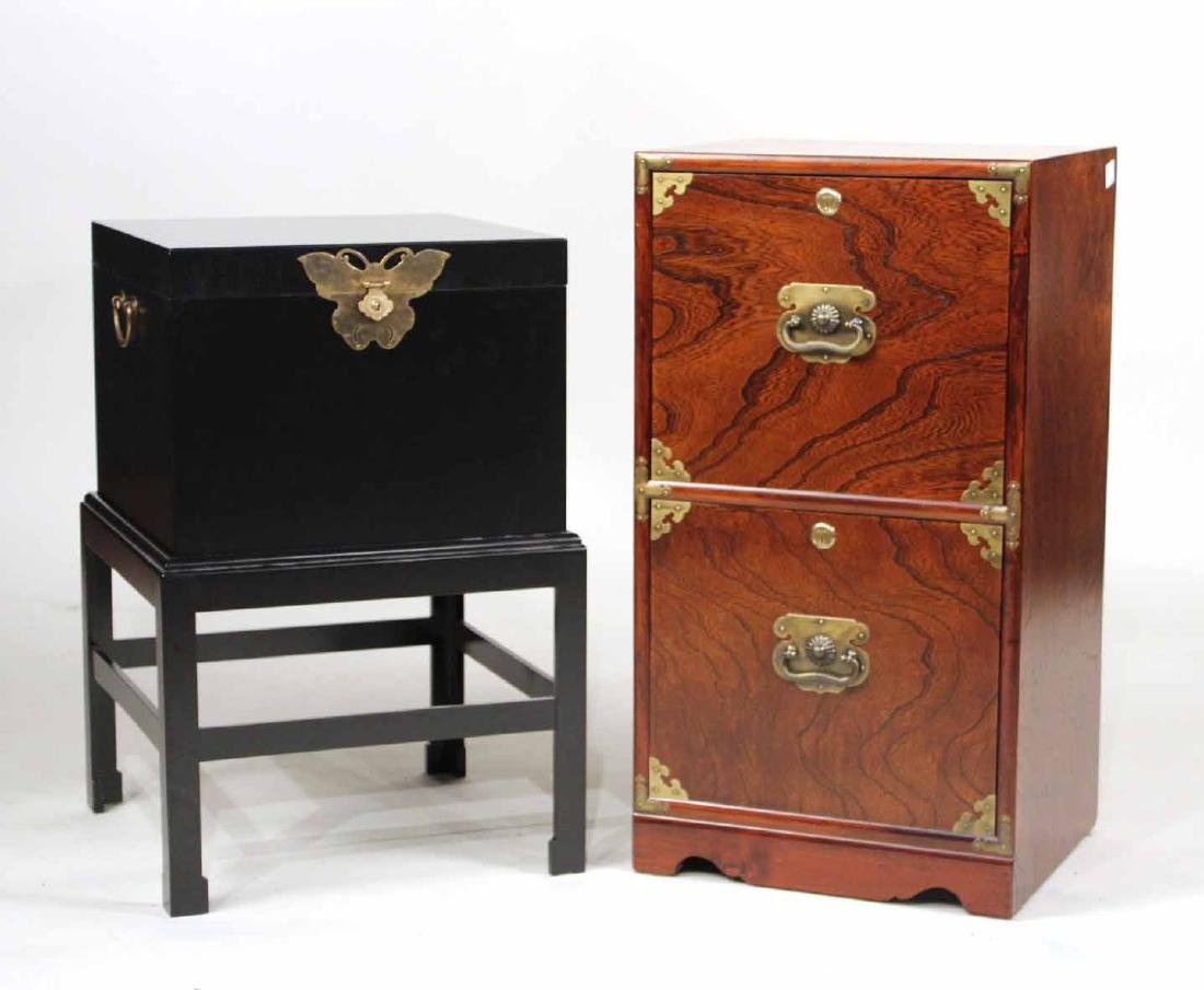Chinese Style Hardwood Two-Drawer File Cabinet