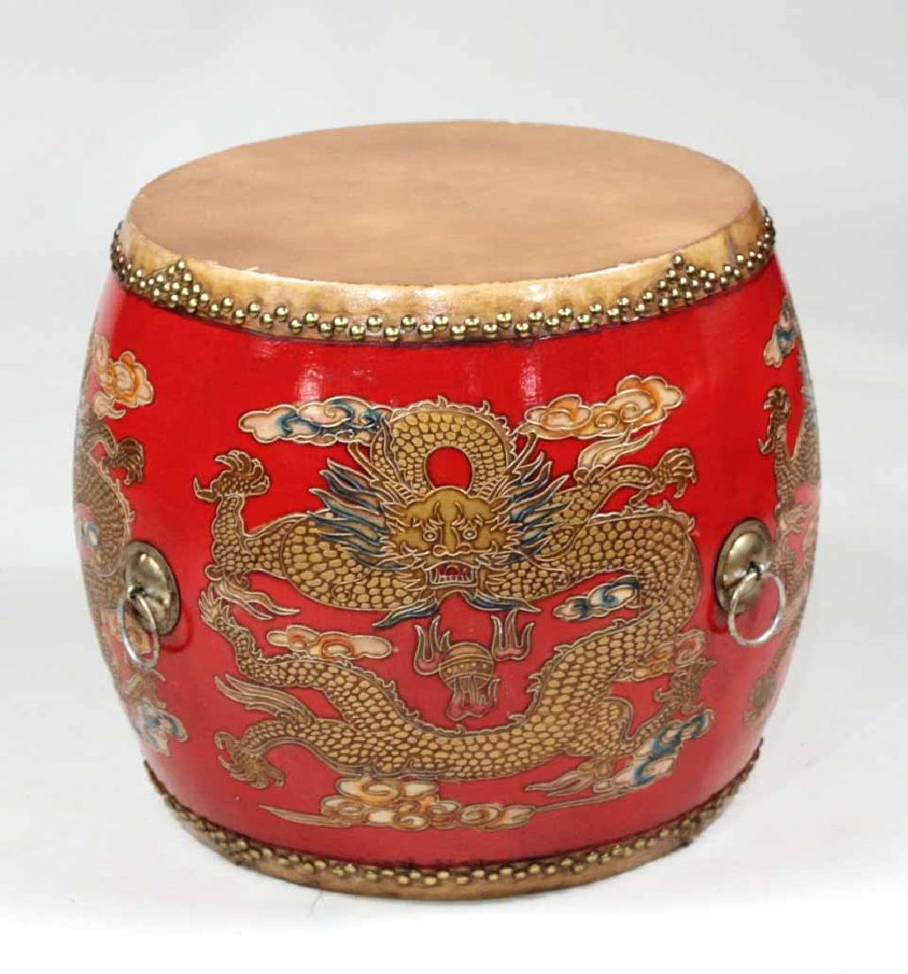 Chinese Ceremonial Dragon Drum Table