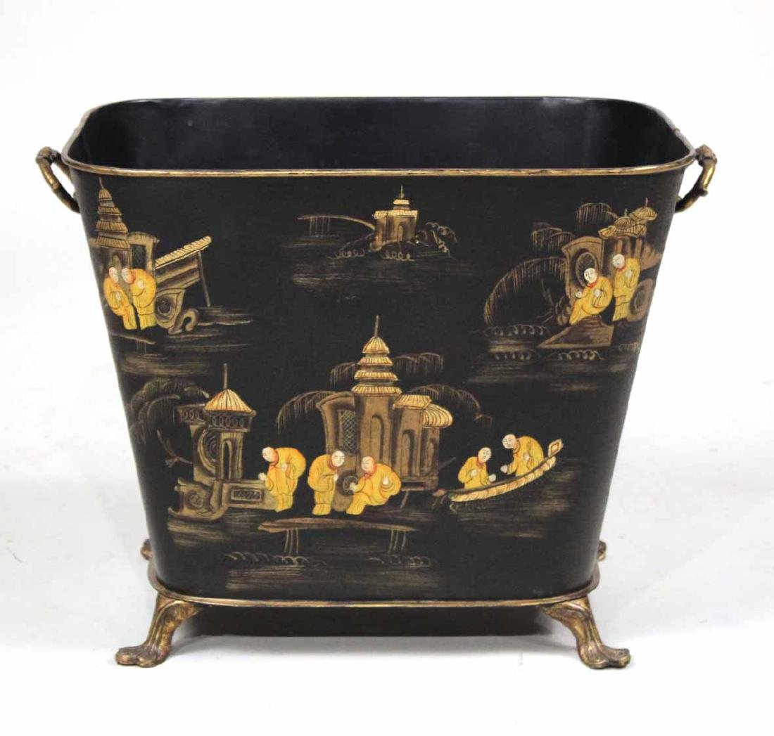 Chinoiserie Decorated Tole Planter