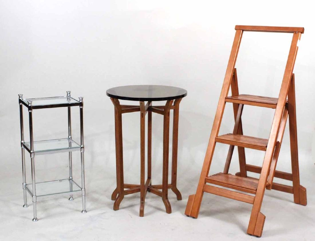 Chinese Style Hardwood Glass Top Folding Table