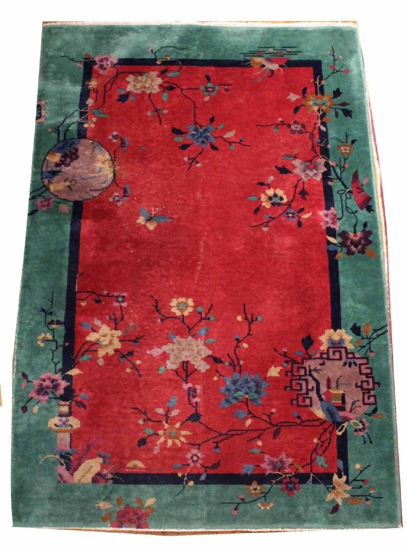 Chinese Style Art Deco Throw Rug
