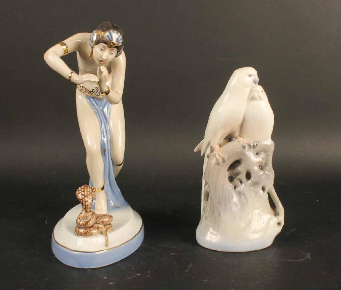 Royal Copenhagen Porcelain Bird Figural Group