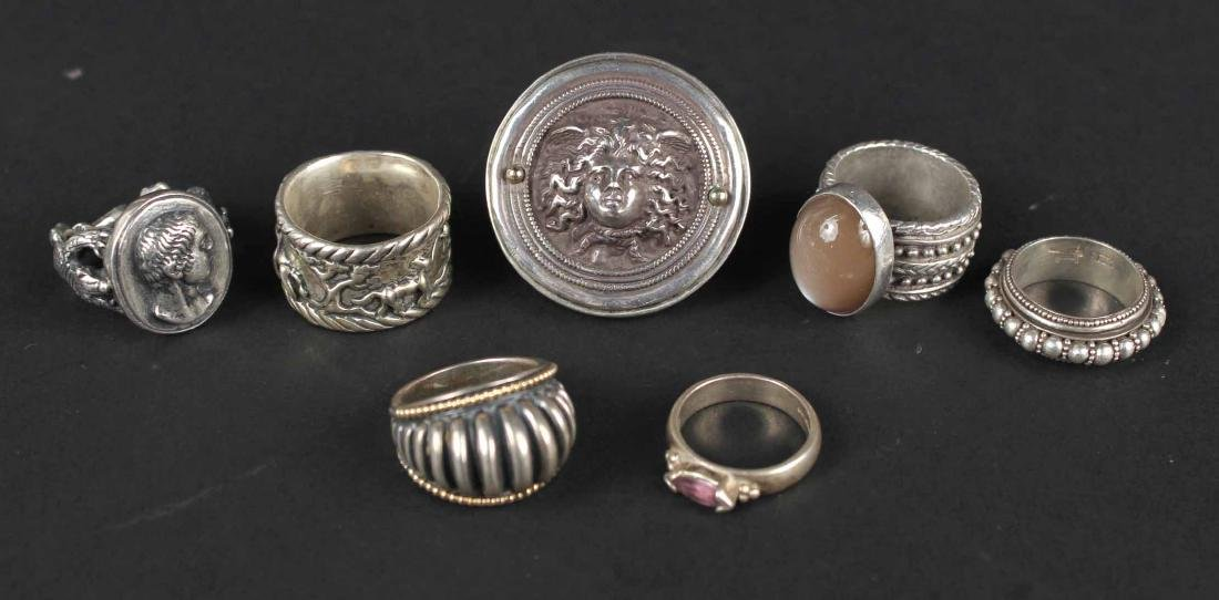 Laurence DeVries Sterling Silver & Gold Ring