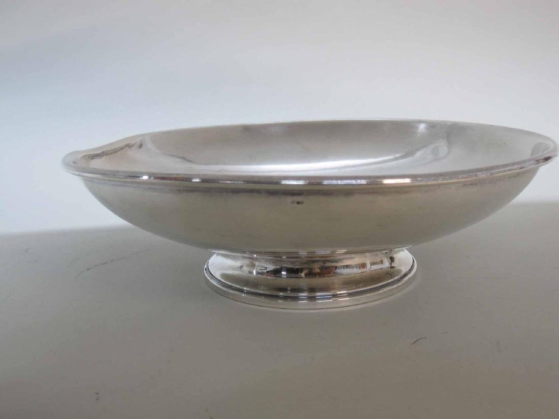 STERLING SILVER WEIGHTED DOG TROPHY BOWL