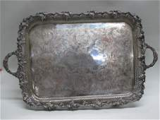 SILVERPLATED GRAPE AND VINE SERVING TRAY