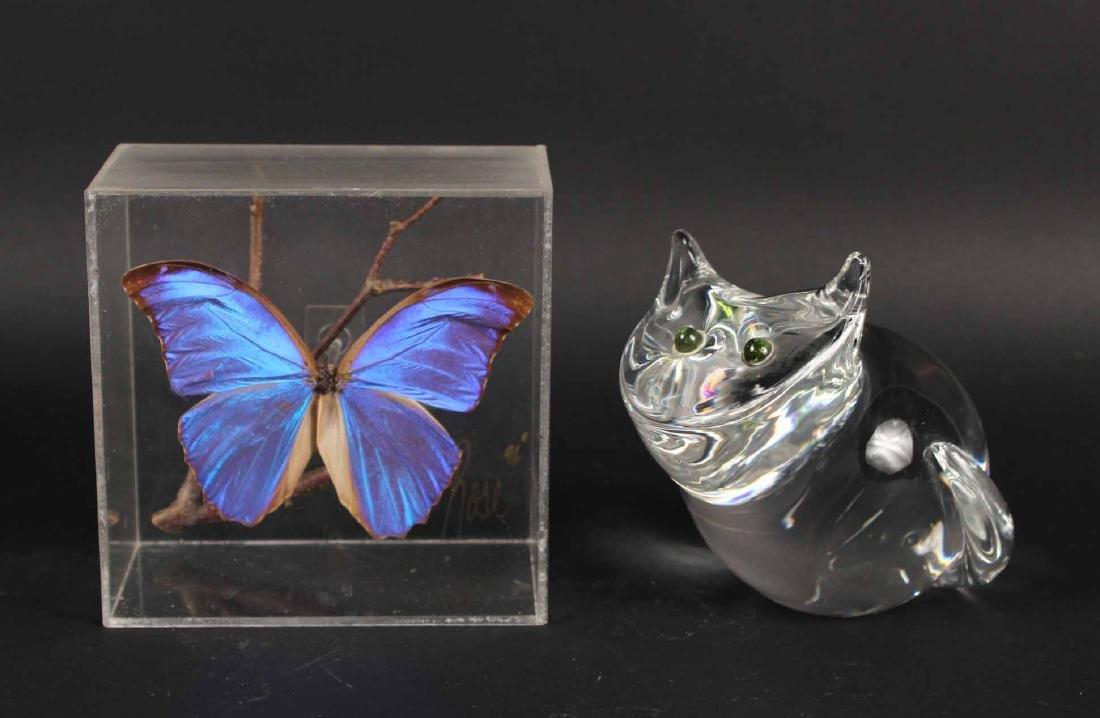 STEUBEN GLASS CAT
