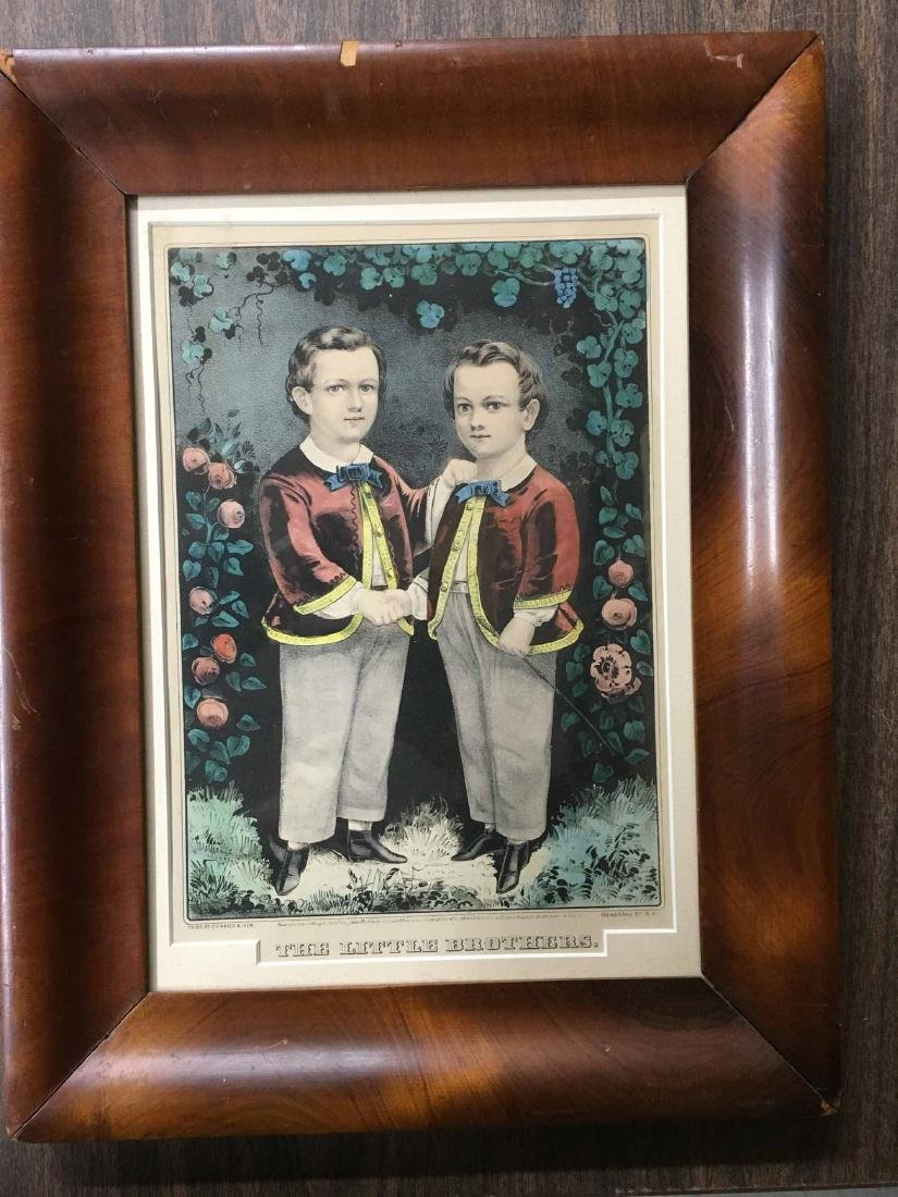 "CURRIER & IVES PRINT, ""THE LITTLE BROTHERS"""