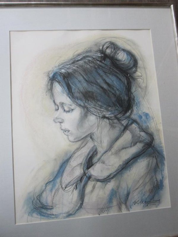 MIXED MEDIA, PORTRAIT OF WOMAN