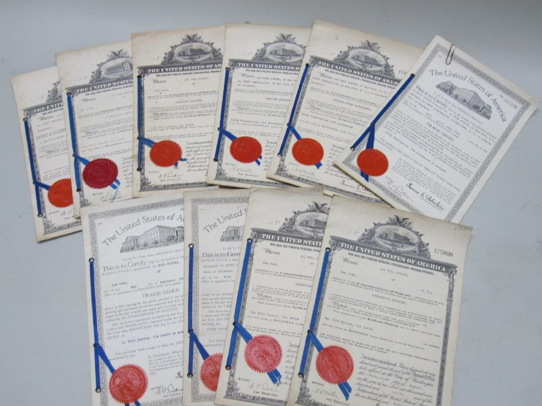 ASSORTED UNITED STATES LETTER PATENTS