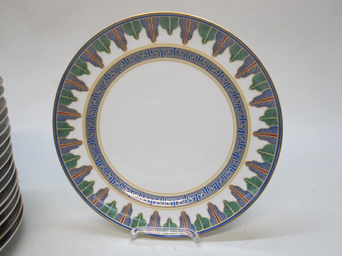 17 MOTTAHEDEH CHARLESTON FEATHER PLATES