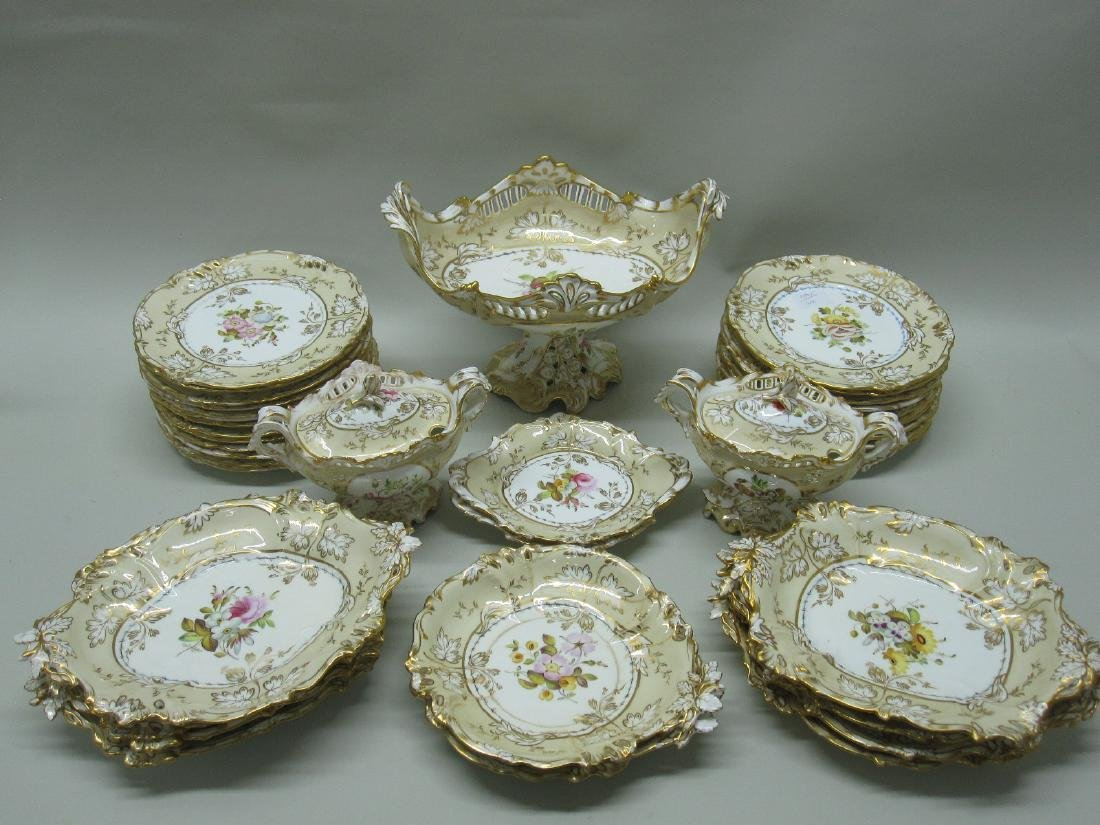 PARTIAL FLORAL DECORATED DINNERWARE SERVICE
