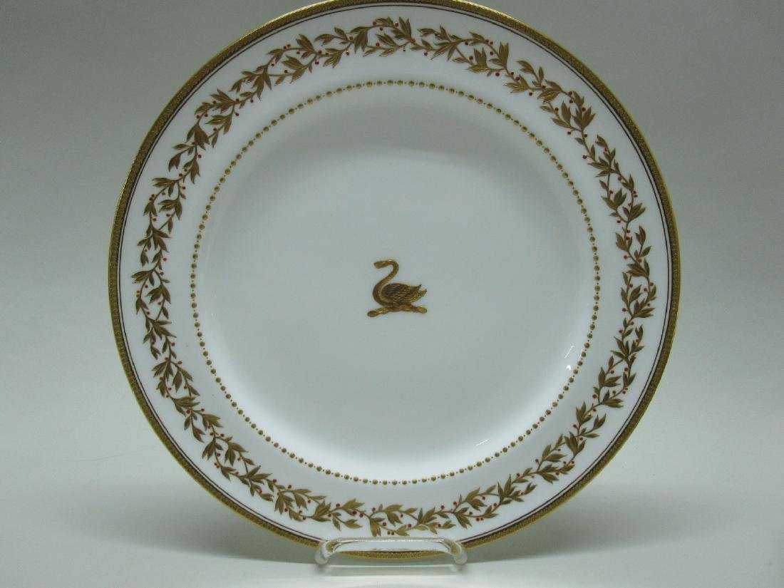 SET OF 12 MINTON GILT DECORATED PLATES