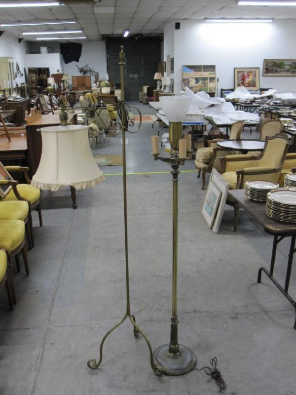BRASS PAINTED ADJUSTABLE FLOOR LAMP