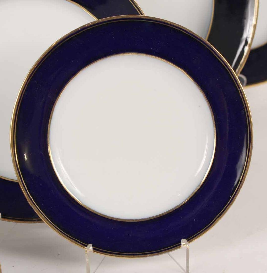 Parcel-Gilt Cobalt Rim Porcelain Dinner Service - 3