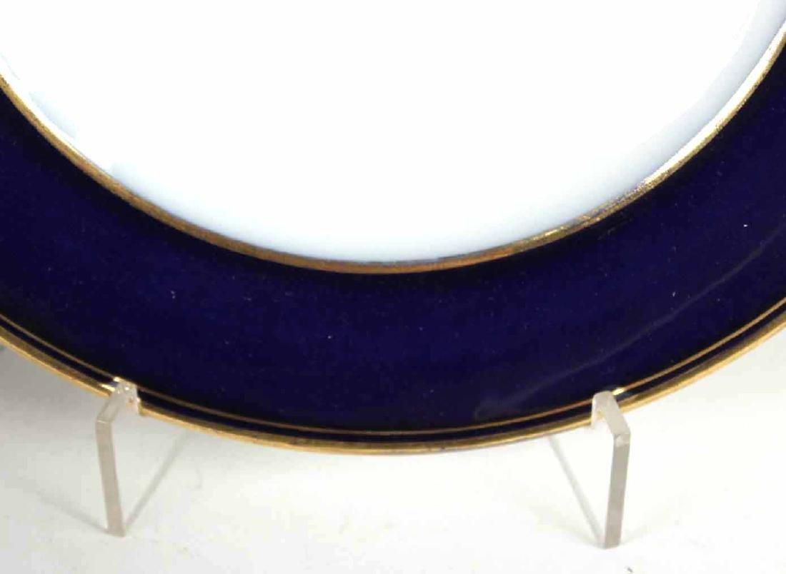 Parcel-Gilt Cobalt Rim Porcelain Dinner Service - 4
