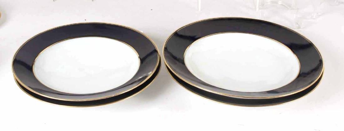 Parcel-Gilt Cobalt Rim Porcelain Dinner Service - 7