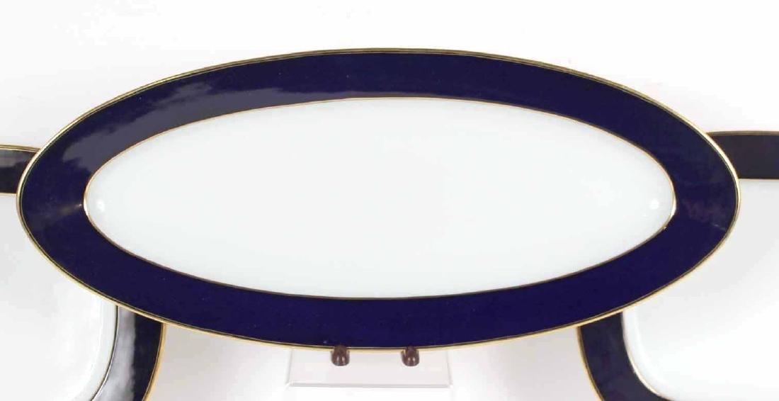 Parcel-Gilt Cobalt Rim Porcelain Dinner Service - 8