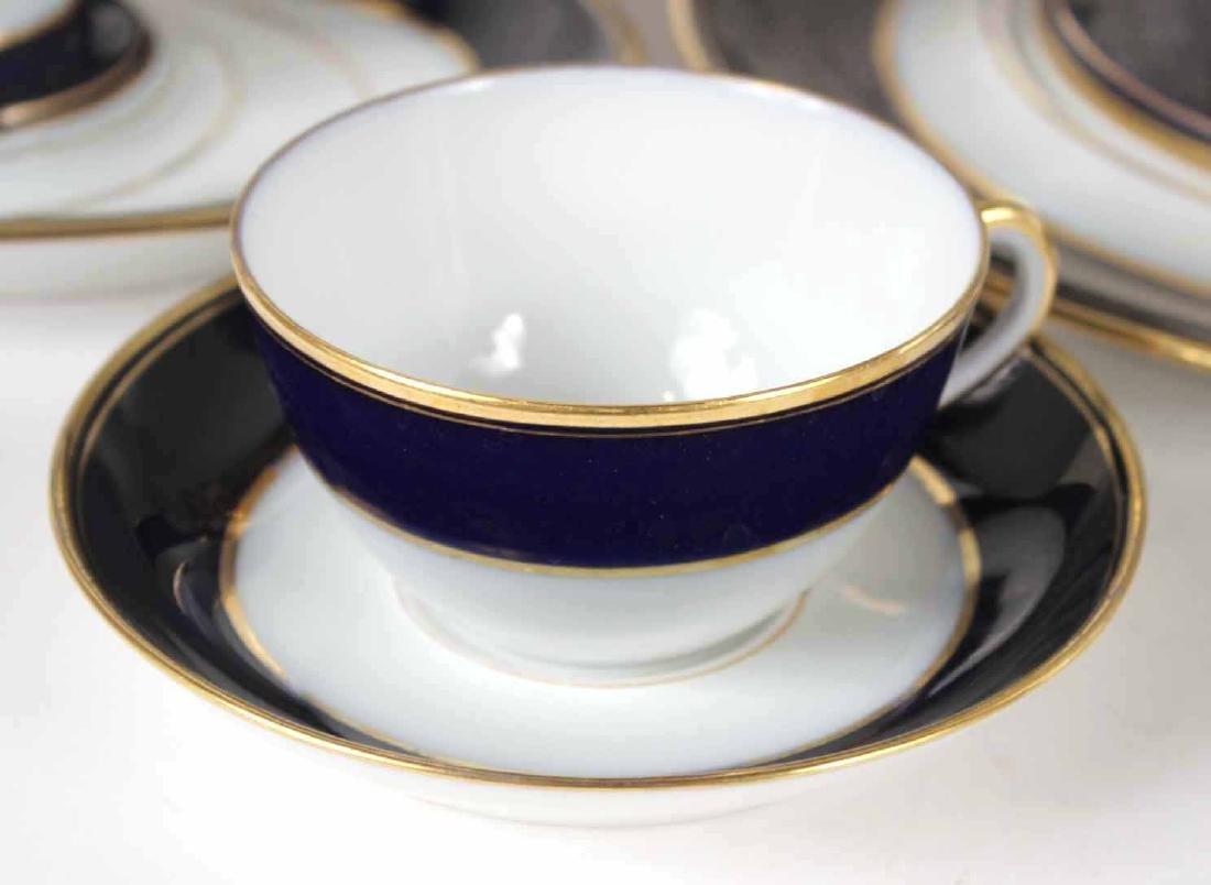 Parcel-Gilt Cobalt Rim Porcelain Dinner Service - 9