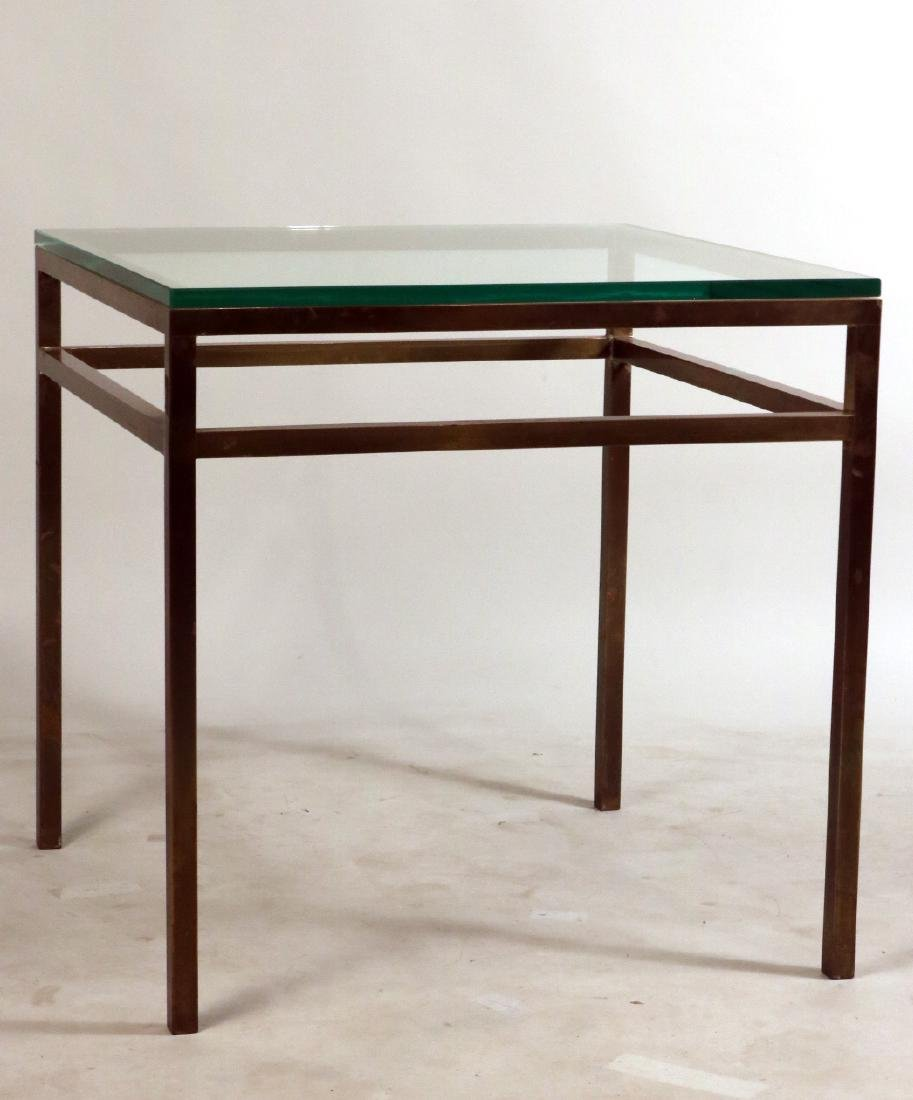 Pair of Contemporary Brass and Glass Side Tables - 2