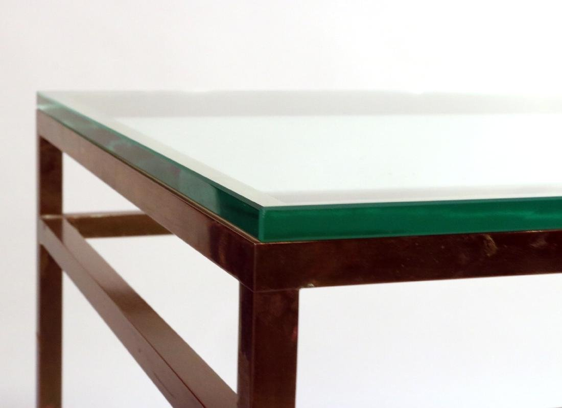 Pair of Contemporary Brass and Glass Side Tables - 4