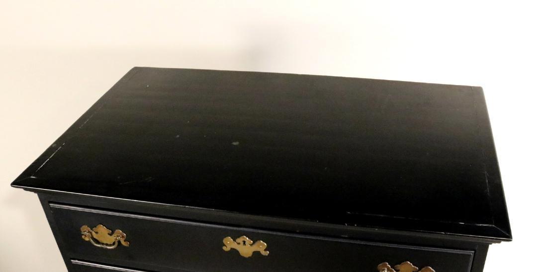 George II Style Black-Painted Highboy - 4