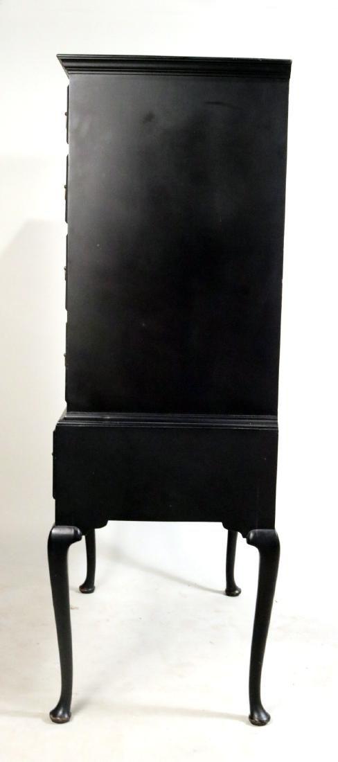 George II Style Black-Painted Highboy - 7