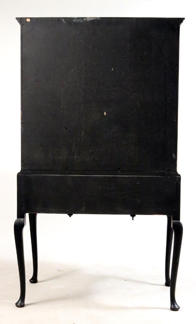 George II Style Black-Painted Highboy - 8