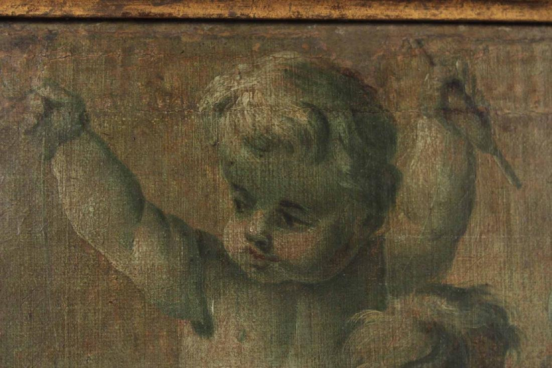 Oil on Canvas, Two Putti - 4
