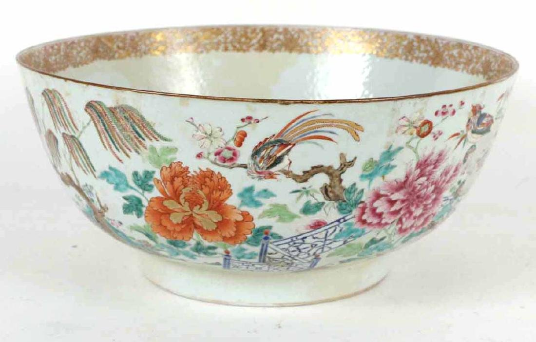 Chinese Famille Rose Porcelain Punch Bowl