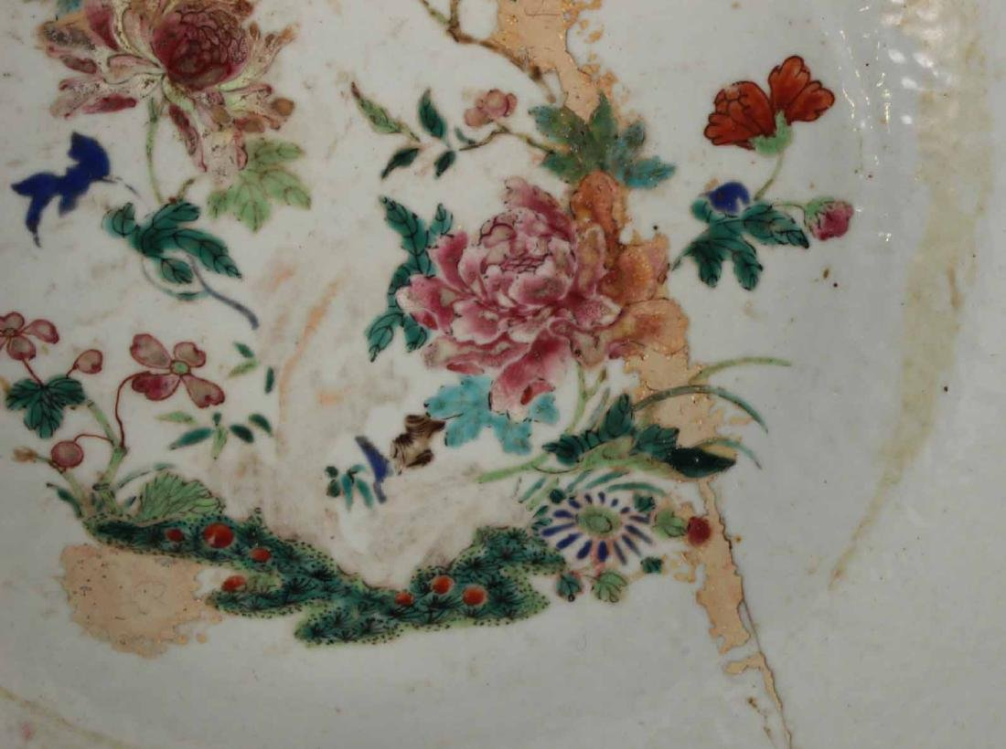 Chinese Famille Rose Porcelain Punch Bowl - 5