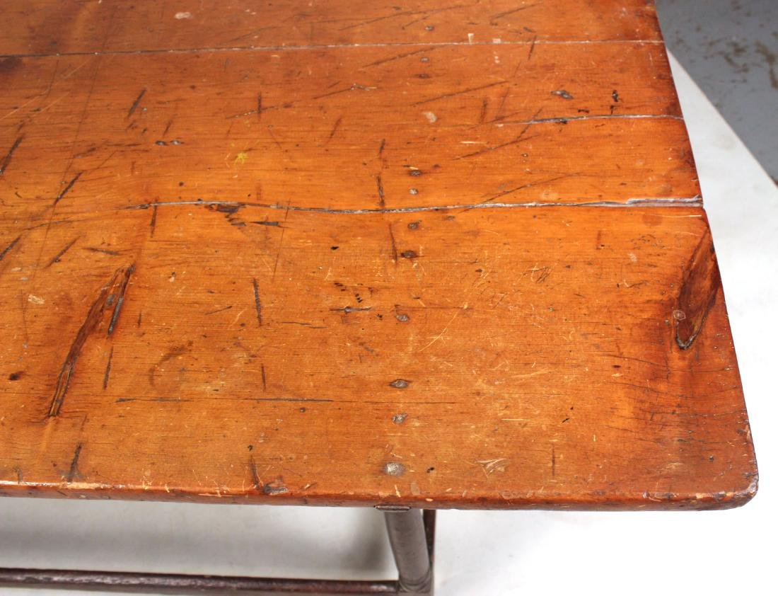 Turned Maple and Pine Tavern Table - 2