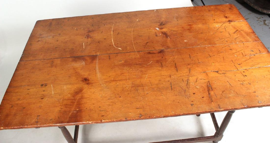 Turned Maple and Pine Tavern Table - 6