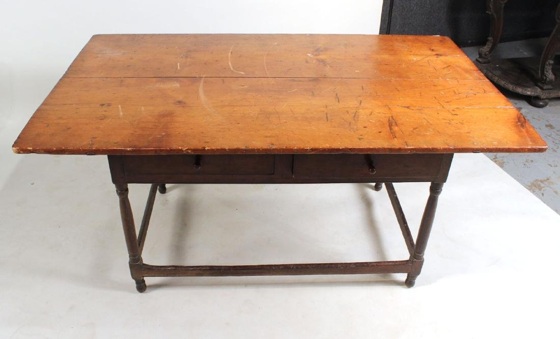 Turned Maple and Pine Tavern Table - 8