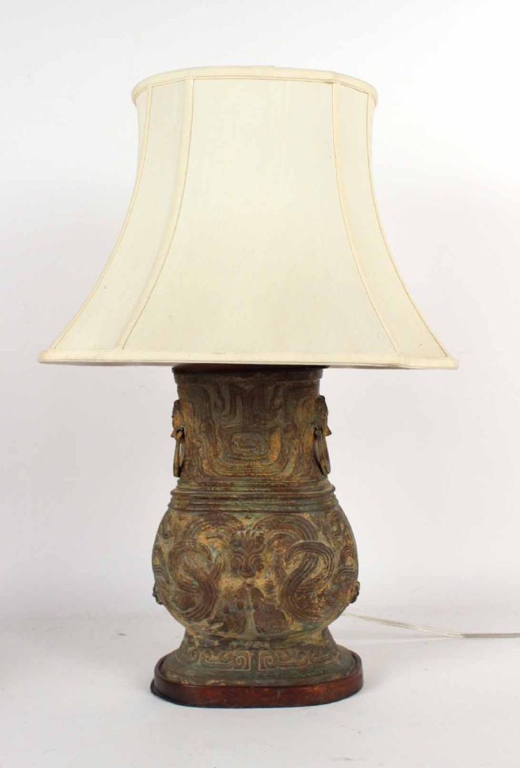 Cast-Bronze Double-Handled Vase