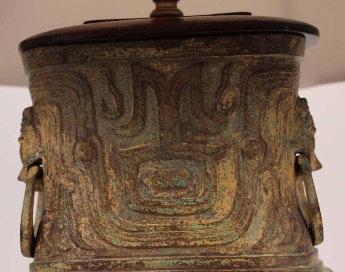 Cast-Bronze Double-Handled Vase - 7