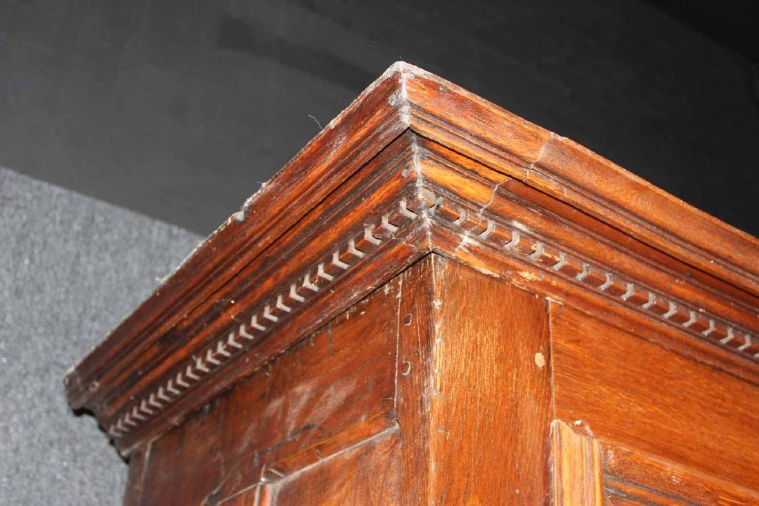 French Provincial Carved Oak and Chestnut Armoire - 5