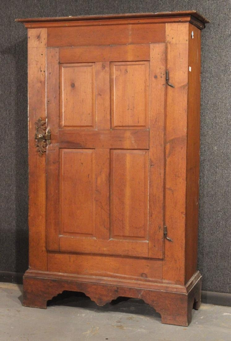 Red-Stained Pine Architectural Cupboard