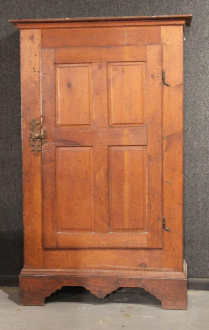 Red-Stained Pine Architectural Cupboard - 2