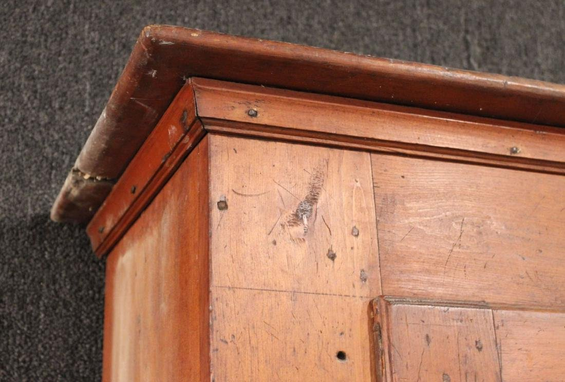 Red-Stained Pine Architectural Cupboard - 5