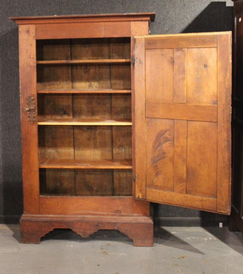 Red-Stained Pine Architectural Cupboard - 6