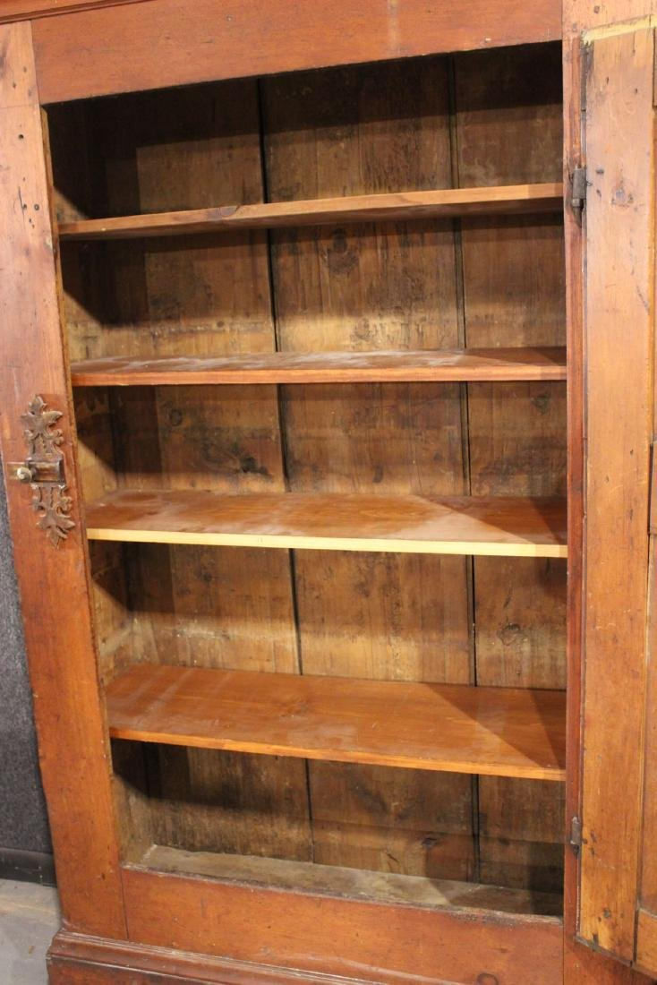 Red-Stained Pine Architectural Cupboard - 7