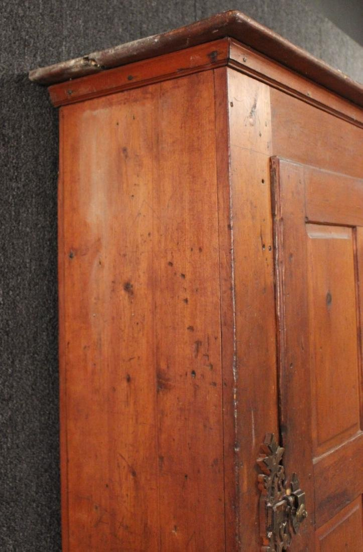 Red-Stained Pine Architectural Cupboard - 8