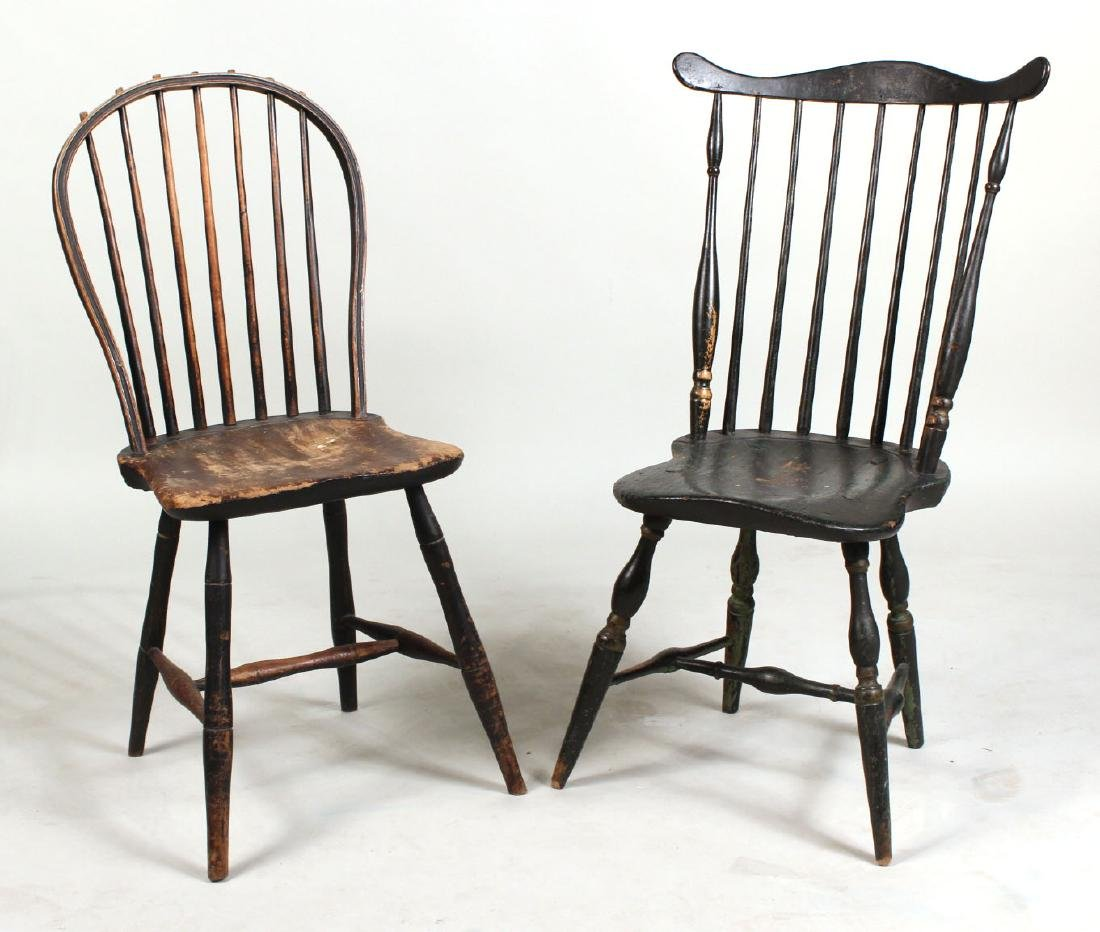 Green-Painted Bow-Back Windsor Side Chair