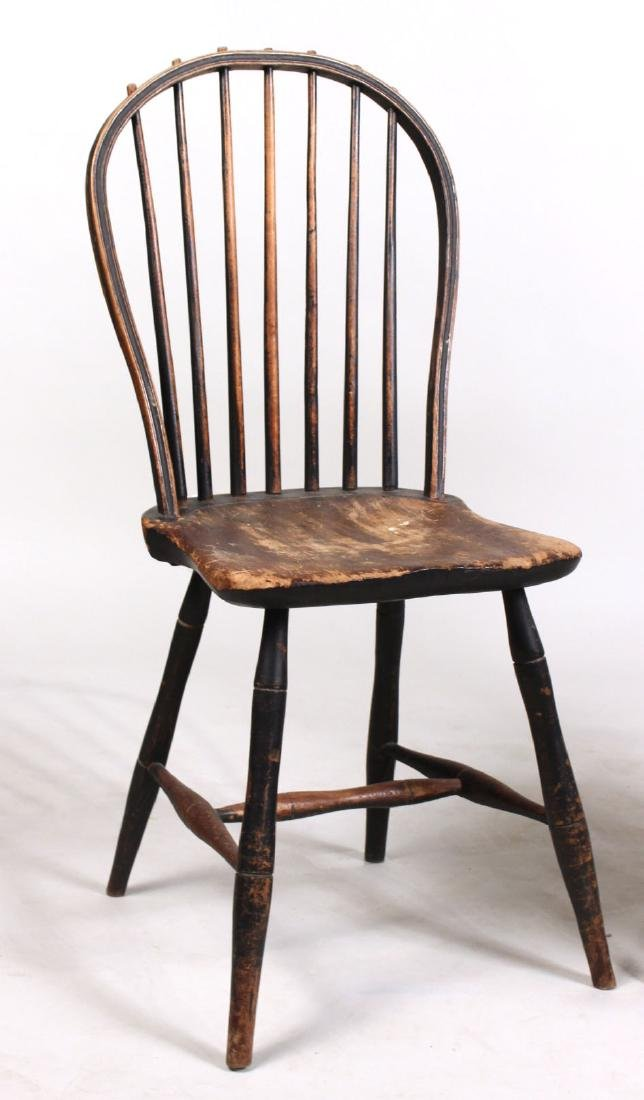 Green-Painted Bow-Back Windsor Side Chair - 2